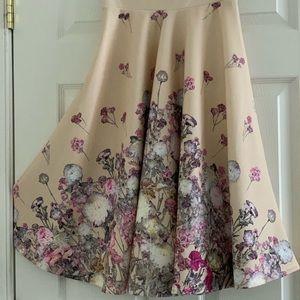 ASOS PETITE Exclusive Printed Scuba Midi Skirt S